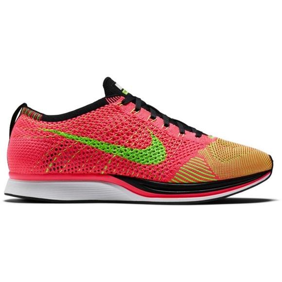 6eea2075069f RARE Nike Flyknit Racer - Hyper Punch Green